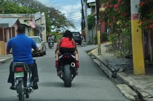 fat motorbike girl